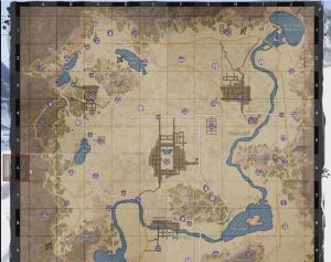 全体マップ上の基地の場所